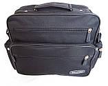 Мужская сумка барсетка через плечо портфель в2440 черная 29х24х15см, фото 4