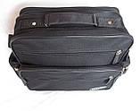 Мужская сумка барсетка через плечо портфель в2440 черная 29х24х15см, фото 5