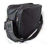 Мужская сумка барсетка через плечо портфель в2440 черная 29х24х15см, фото 6