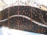 Ворота кованые Осень