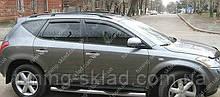 Вітровики вікон Ніссан Мурано 2 (дефлектори бокових вікон Nissan Murano 2 Z51)