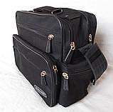 Мужская сумка барсетка через плечо портфель в2440 черная 29х24х15см, фото 2