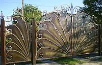 Ворота кованые Павлин, Павлин плюс