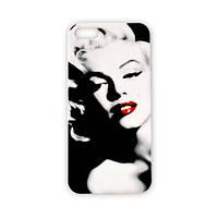 Чехол для iPhone 5/5S Marilyn Monroe - красные губы