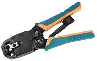 Инструмент обжим для RJ-45,12,11 с храповым механизмом вертикальный обжим обжим ITK