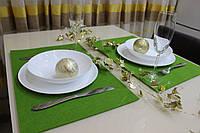 Фетровые подставки под тарелку, сервировка стола