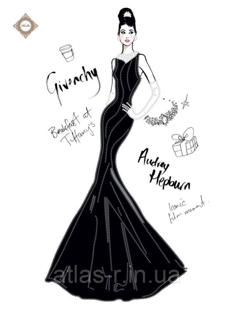 """Схема для вышивки бисером """"Дом моды Givenchy"""""""