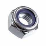 Гайка со стопорным нейлоновым кольцом DIN 985 М4 (100 шт/уп)
