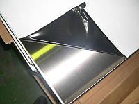 Лист нержавеющий AISI 430  0,6 мм 4N+PVC (1х2 м)