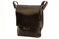 Кожаная мужская сумка Tom Stone 501 коричневая