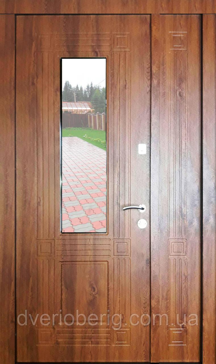 Входная дверь двух створчатая модель П3-346 vinoriy-90 СТЕКЛО