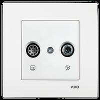 Розетка телевизионная tv + спутниковая sat белая Viko (Вико) Karre (90960085)