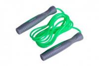 Гимнастическая скакалка PowerPlay для спортзала и дома зеленая