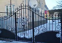 Ворота кованые Роза, Роза плюс