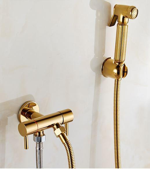 Гігієнічний душ змішувач для біде в золоті 0368