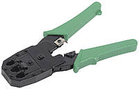 Инструмент обжим. для RJ45 RJ12 RJ11 ручка ПВХ зеленый ITK