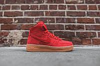 "Кроссовки Nike Air Force 1 High ""Red/Gum"""