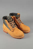Ботинки. Модные ботинки. Ботинки высокие. Ботинки Timberland Classics желтые без меха.