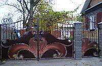 Ворота кованые Сова, Сова плюс