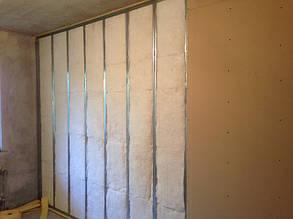 Каркасная звукоизоляция стен и потолков