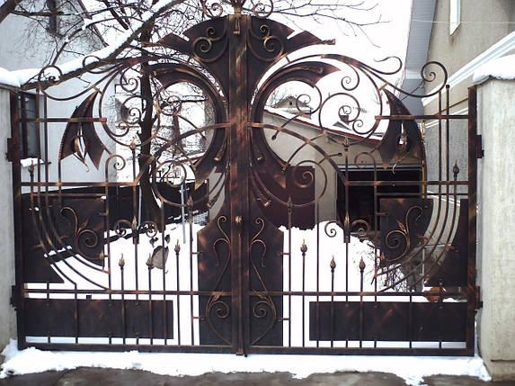 Ворота ковані Фенікс, Фенікс плюс , фото 2