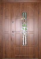 Входная дверь двух створчатая модель П3-124 vinoriy-90 КОВКА Л2