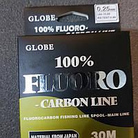Флюрокарбон Globe Fluorocarbon 0.25 / 30m
