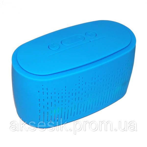 Портативная акустика A-56 (USB, TF, SD, LED, Bluetooth) цвет синий