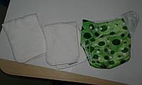 Многоразовые велюровые подгузники со вкладышами (микрофибра)