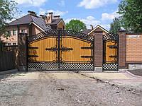 Ворота кованые  Харьков(без дерева)