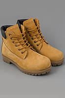 Ботинки. Модные ботинки. Ботинки Timberland Classics желтые с коричневой подошвой и мехом
