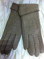 Кашемировые перчатки одинарные с отворотом