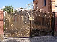 Ворота кованые Хром, Хром плюс