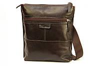 Кожаная мужская сумка Tom Stone 514 коричневая