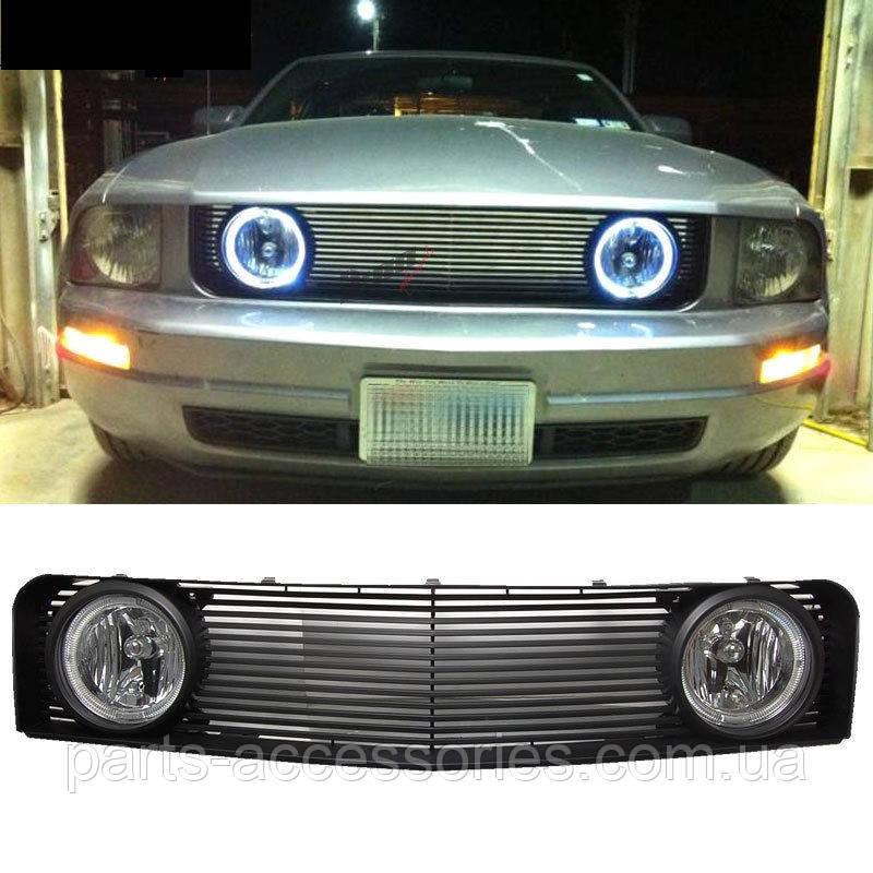 Ford Mustang 2005-09 решетка радиатора противотуманные фары туманки в решетку радиатора Новые