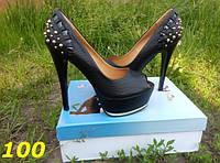 Женские туфли с открытым носком шипы, 35 36р