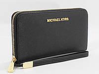 Кошелек женский кожаный на молнии Michael Kors 60019-А черный, расцветки