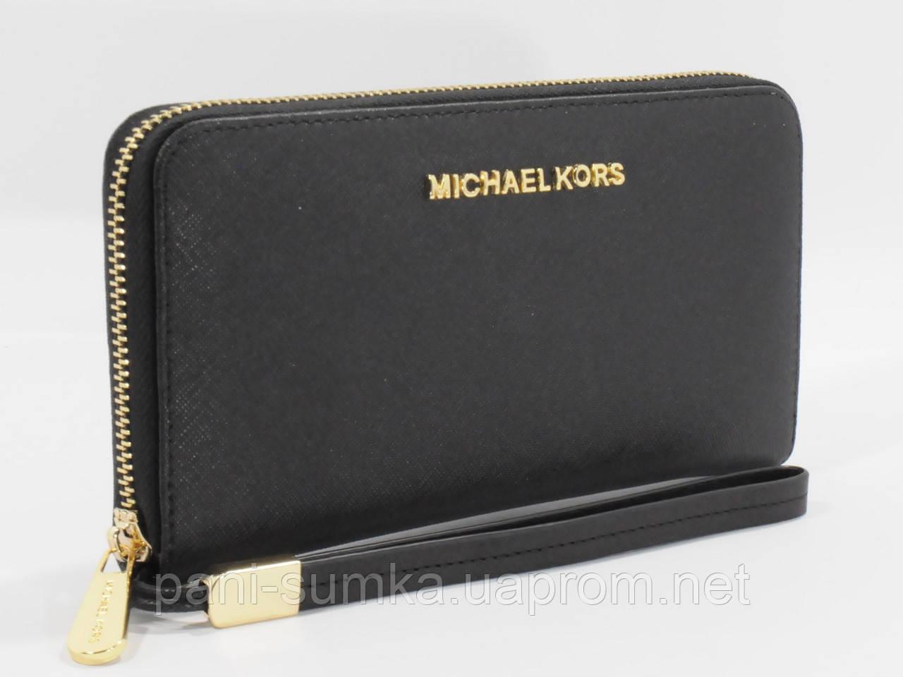 Кошелек женский кожаный на молнии Michael Kors 60019-А черный, расцветки -  Интернет магазин 65059414b9d