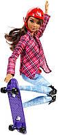 """Кукла Барби шатенка , серия """"Двигайся как я - Скейтбордистка"""" Barbie, фото 1"""