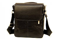 Кожаная мужская сумка Tom Stone 709 черная