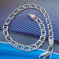 Серебряный браслет, 215мм, 10 грамм, плетение Арабский бисмарк