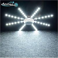 СВЕТОДИОДНЫЙ Потолочный Светильник 24 Вт 48LED 220 В Светодиодная Лампа Снежинка