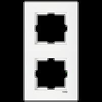 Рамка двухместная вертикальна белая Viko (Вико) Karre (90960221)