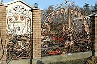 Ворота кованые Павич