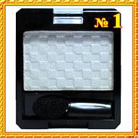 Тени Meis MS-6101 Одинарные Белые Атласные Компактные, Тон 01