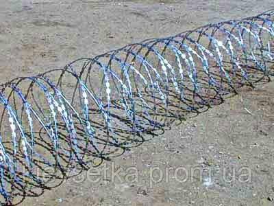 Егоза, спиральный барьер безопасности 600мм 3 скобы - Киевсетка в Киеве