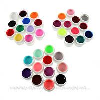 Цветной гель для ногтей. Набор 36 шт.