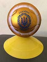 Мяч сувенирный № 2  УКРАЇНА  FB-4096-U2 золотисто-белый