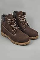 Ботинки Timberland Classics темно-коричневые с коричневой подошвой и мехом. Ботинки. Модные ботинки.