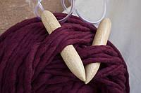 Спицы для вязания толстой пряжи 25 мм